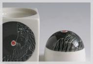 Eierbecher mit Salzstreuer