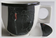 "Espressotasse Dekor ""Pharaonin"""