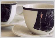 """Kaffeetasse Dekore """"Pharao"""" und """"Pharaonin"""""""